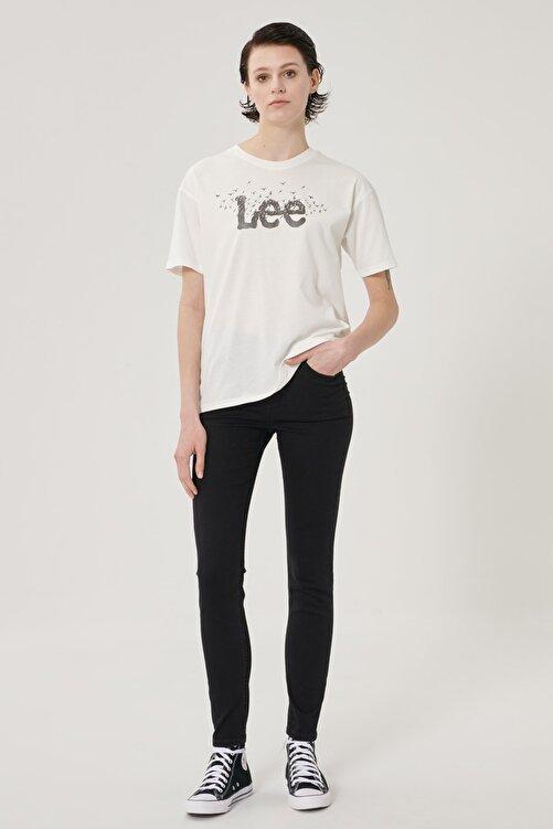 Lee Kadın Siyah Scarlett High Skinny Fit Denim Esnek Jean Kot Pantolon 1