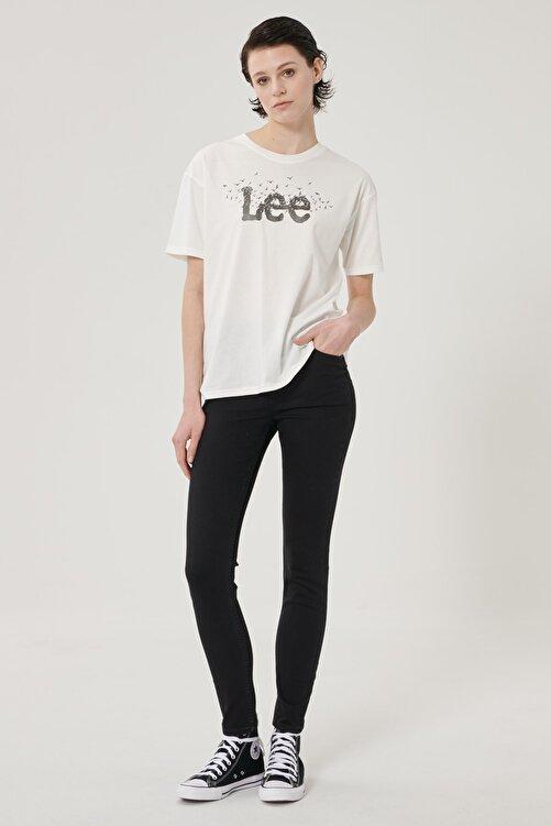 Lee Kadın Siyah Scarlett High Skinny Fit Denim Esnek Jean Kot Pantolon 2