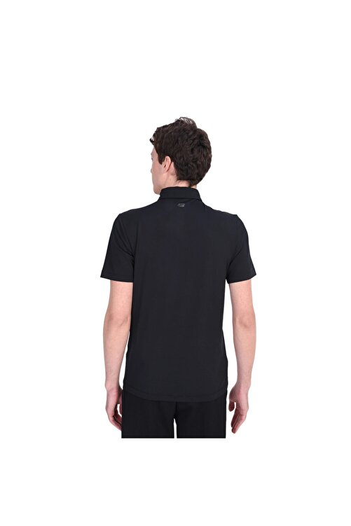 SKECHERS Polo's M Stretch Polo Erkek Siyah Polo Yaka Tshirt 2