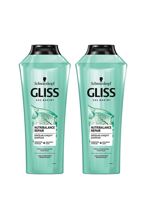 Gliss Nutribalance Repair Saç Dökülmesi Karşıtı Şampuan 360 ml 2'li 1