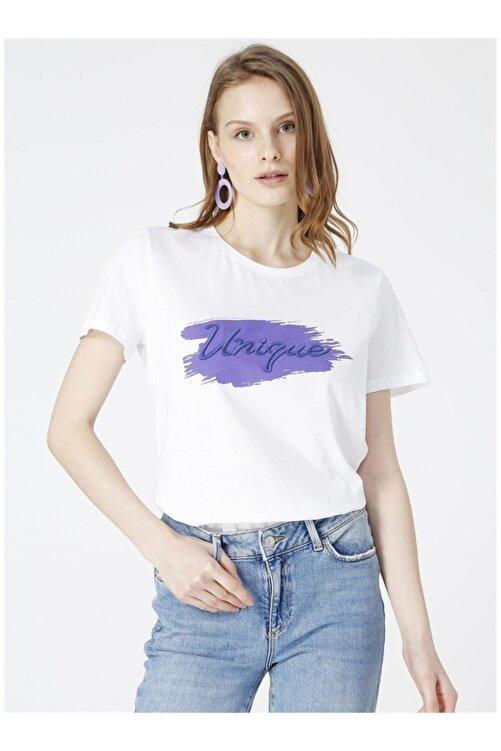 Fabrika Titan Beyaz Bisiklet Yaka Kadınt-shirt 1