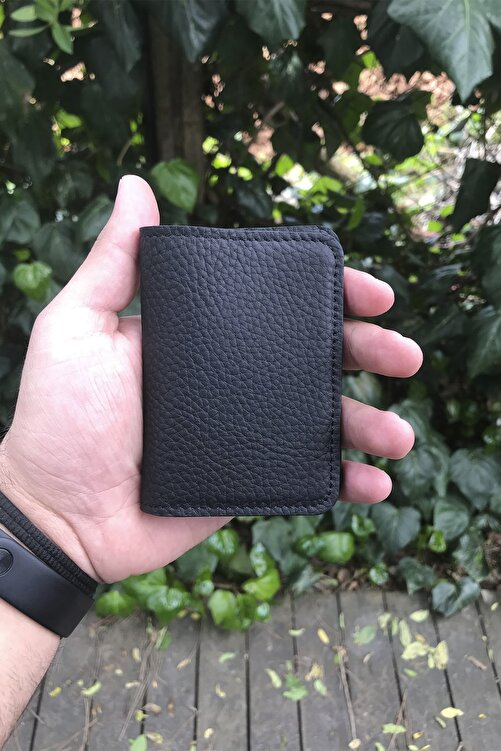 GUARD Minimal Siyah Mat Deri Kartlık 1