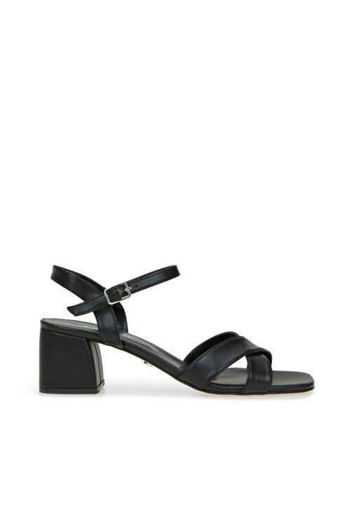 Dıvarese Kadın Siyah Çapraz Bantlı Sandalet 1