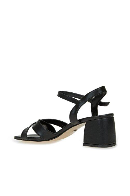 Dıvarese Kadın Siyah Çapraz Bantlı Sandalet 2