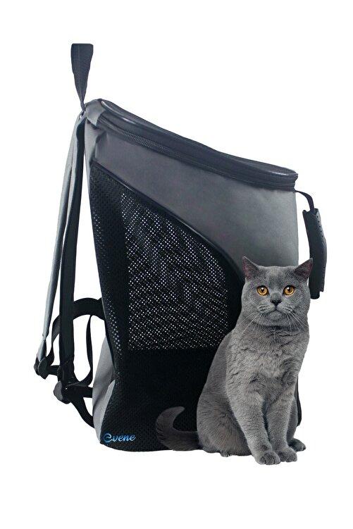 Evene Kedi Çantası Gri Kedi Taşıma Seyahat Sırt Evcil Hayvan Çantası Fileli Kalın El Tutamaçlı 2