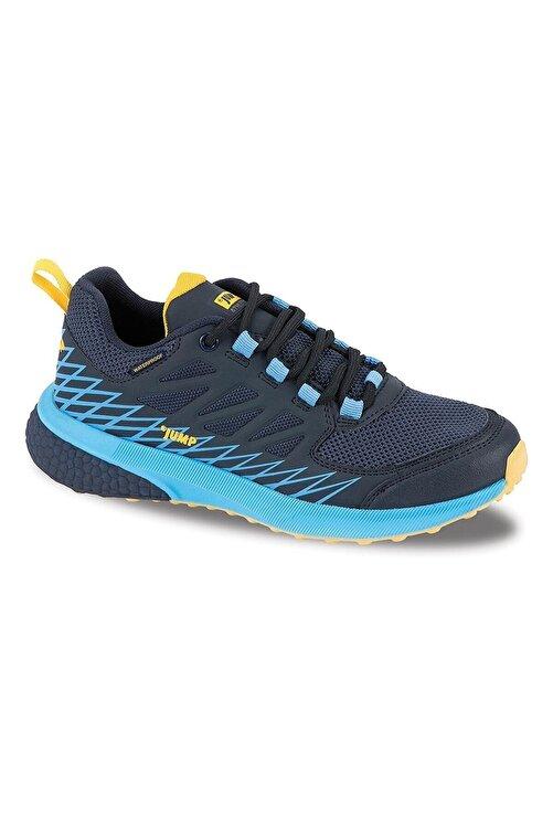 Jump Unisexs Lacivert Mavi Sarı  Waterproff Su Geçirmez Bayan Spor Ayakkabı Bot 1