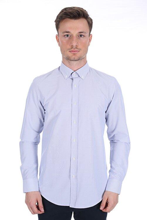 Diandor Erkek Açık Gri/Grey Uzun Kollu Gömlek 1912059 1