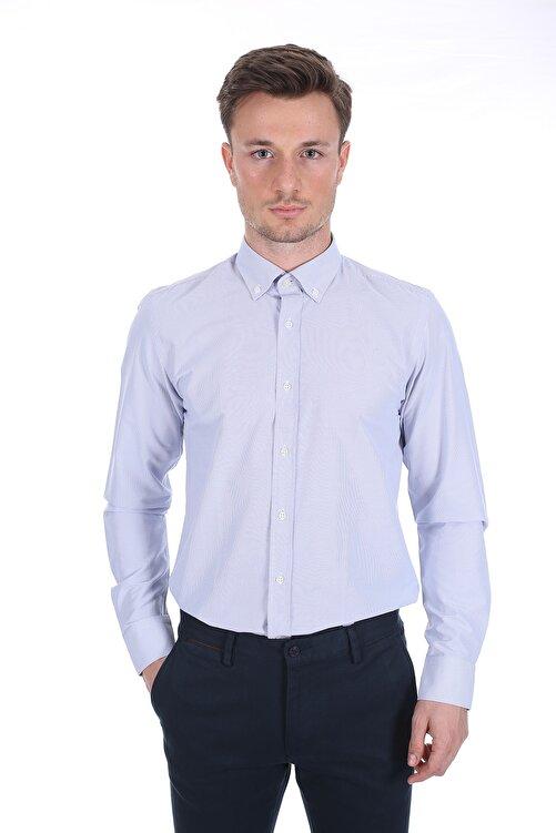 Diandor Erkek Açık Gri/Grey Uzun Kollu Gömlek 1912059 2