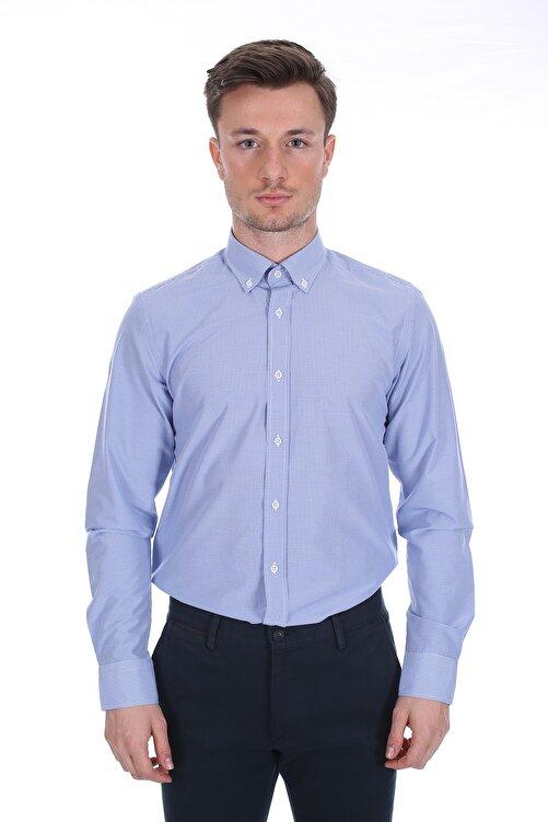 Diandor Erkek Mavi Uzun Kollu Gömlek 1912060 2