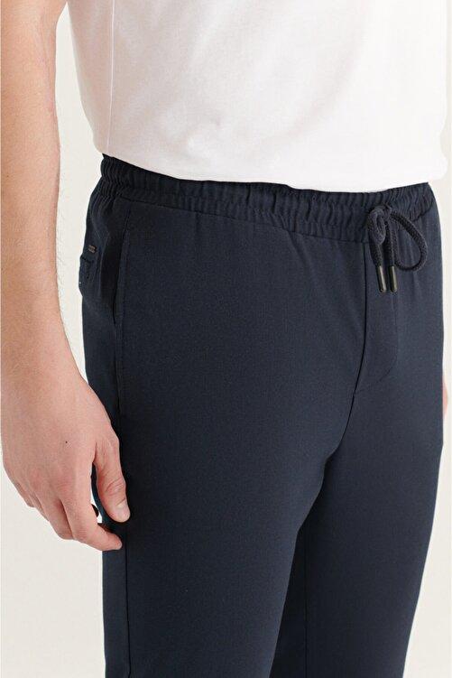 Avva Erkek Lacivert Yandan Cepli Beli Lastikli Kordonlu Düz Relaxed Fit Pantolon E003000 2