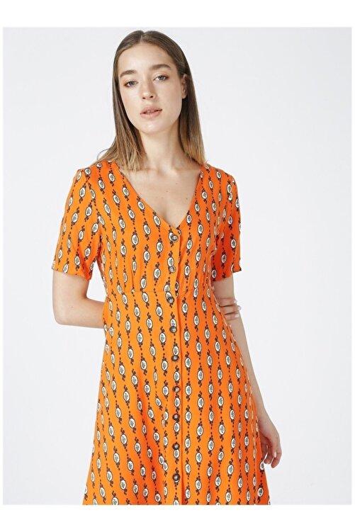 Fabrika Kadın Turuncu Elbise 2