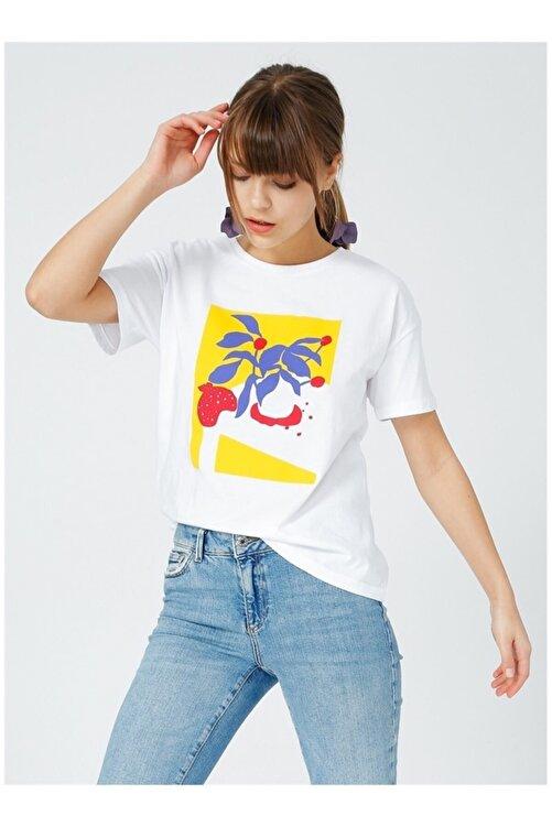 Fabrika Kadın Beyaz Kısa Kol T-Shirt 1