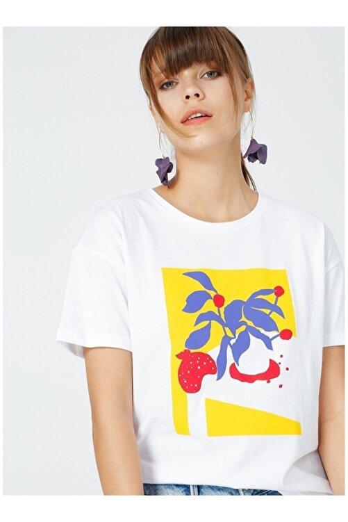 Fabrika Kadın Beyaz Kısa Kol T-Shirt 2