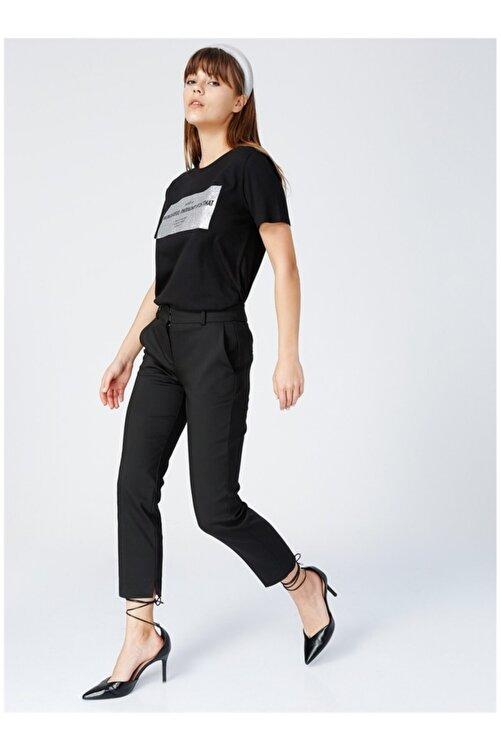 Fabrika Kadın Siyah Kısa Kol T-Shirt 2