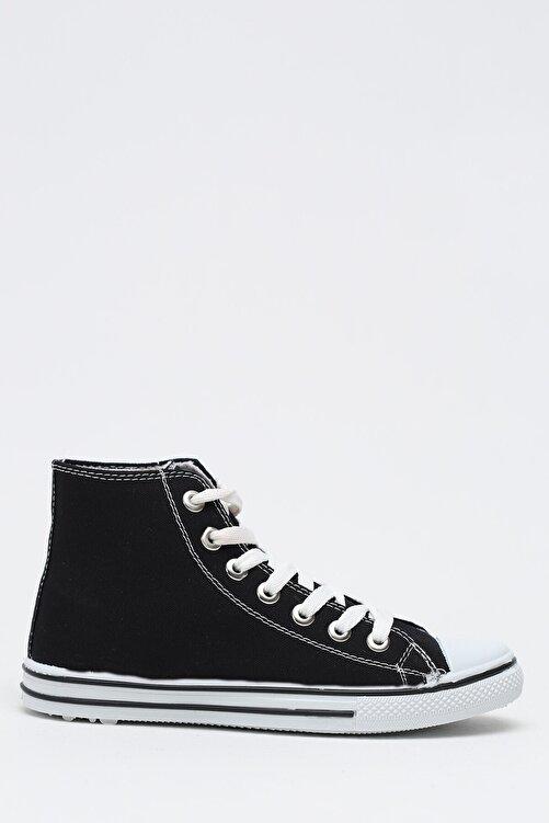 Ayakkabı Modası Kadın Siyah Keten Uzun Convers 2