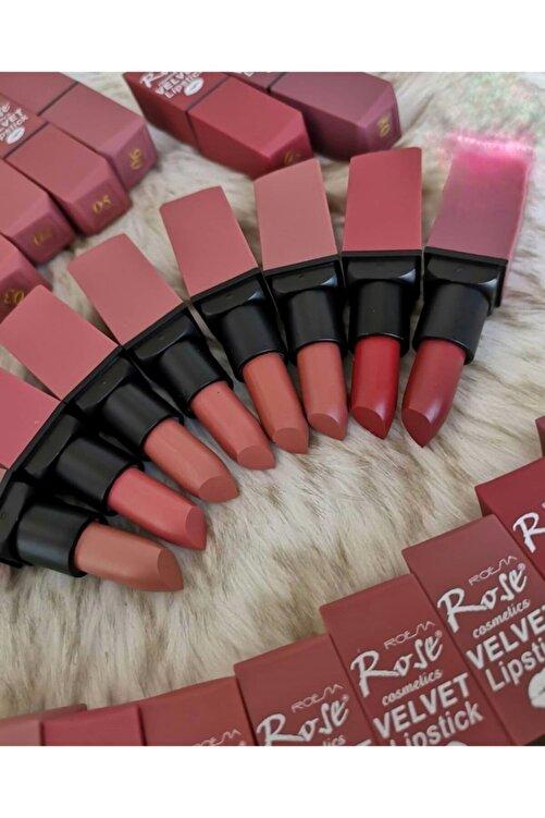 Roesıa Rose Cosmetics Velvet 8 Li Kalıcı Ve Mat Ruj Seti 1