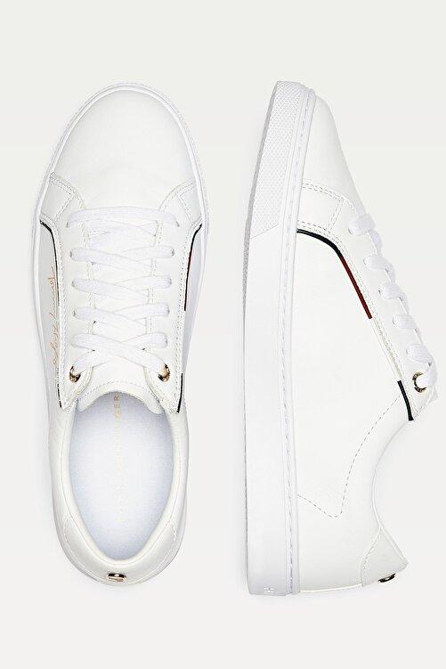 Tommy Hilfiger Kadın Beyaz Sneaker Tommy Hılfıger Sıgnature Sneaker FW0FW05015 2