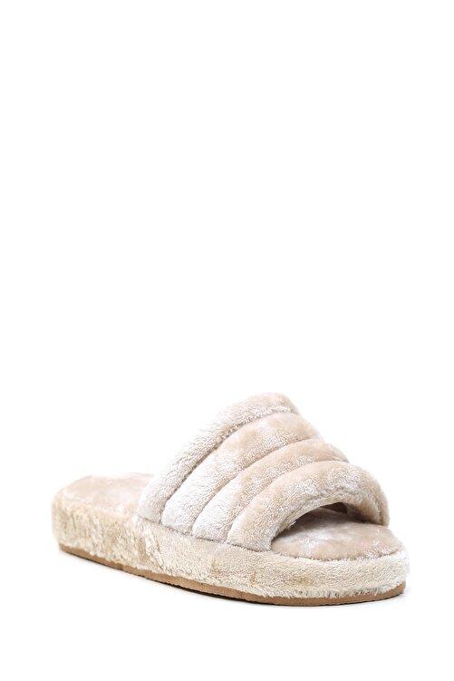 Violetta Shoes Kadın Bej Kadife Ev Terliği 2