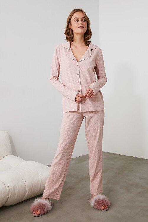 TRENDYOLMİLLA Pudra Örme Pijama Takımı THMAW20PT0265 2