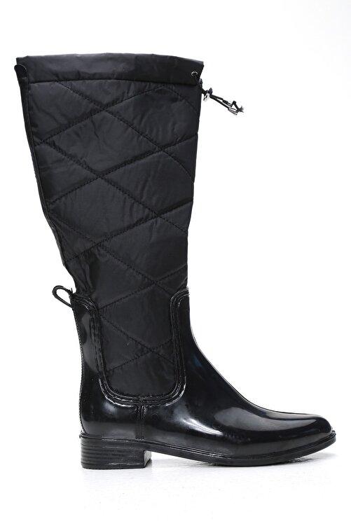 Ayakkabı Modası Kadın Siyah Yağmur Çizmesi 1