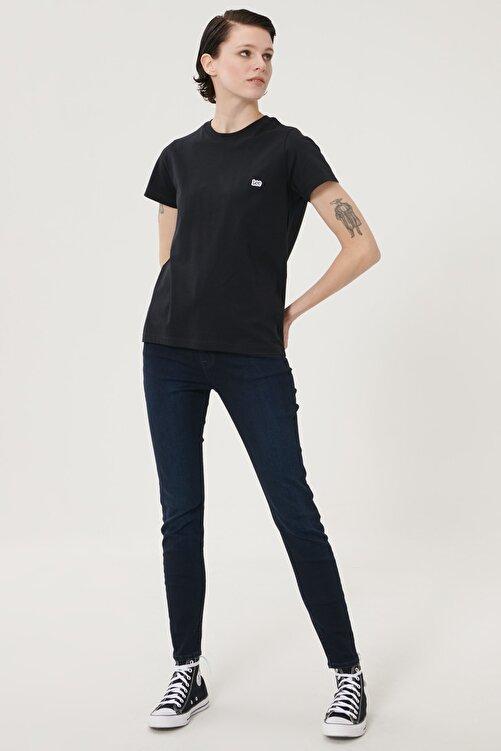Lee Kadın Koyu Mavi Scarlett High Skinny Fit Denim Esnek Jean Kot Pantolon 2