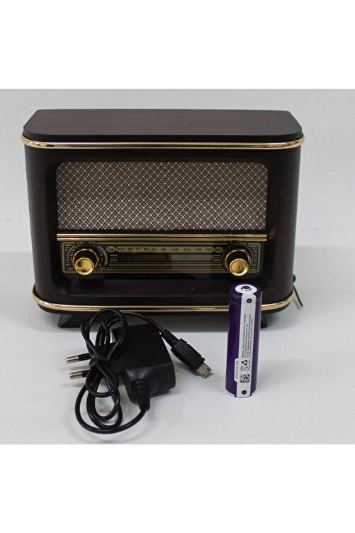 Otantik Çarşı Ahşap Retro Nostaljik Radyo Kahve Rengi İstanbul Model Şarjlı Pil ve Adaptörlü 1