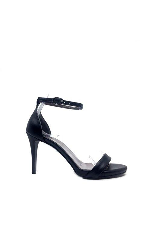 trendytopuk Siyah Tek Bant Topuklu Ayakkabı - Elıza 2