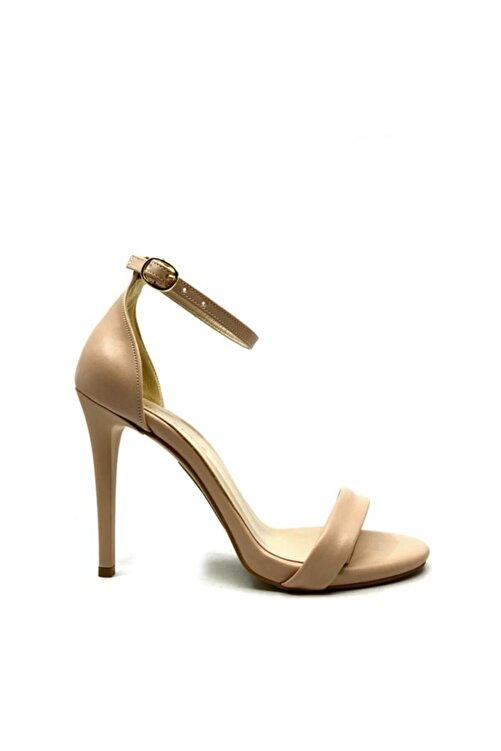 trendytopuk Kadın Nude Tek Bant Topuklu Sandalet 2
