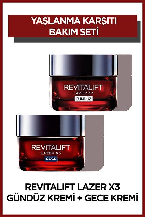 L'Oreal Paris L'Oréal Paris Revitalift Lazer X3 Yoğun Yaşlanma Karşıtı Gündüz Bakım Kremi + Gece Bakım Kremi 50 ml 1