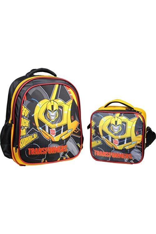 Öykü Transformers Bumblebee Çekçekli Okul Çantası Ilkokul Sök Tak Çek Çekli 2