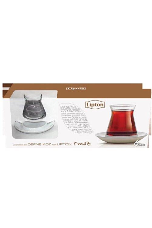 Lipton 6 Adet Çay Bardağı Ve 6 Adet Porselen Çay Tabağı 2