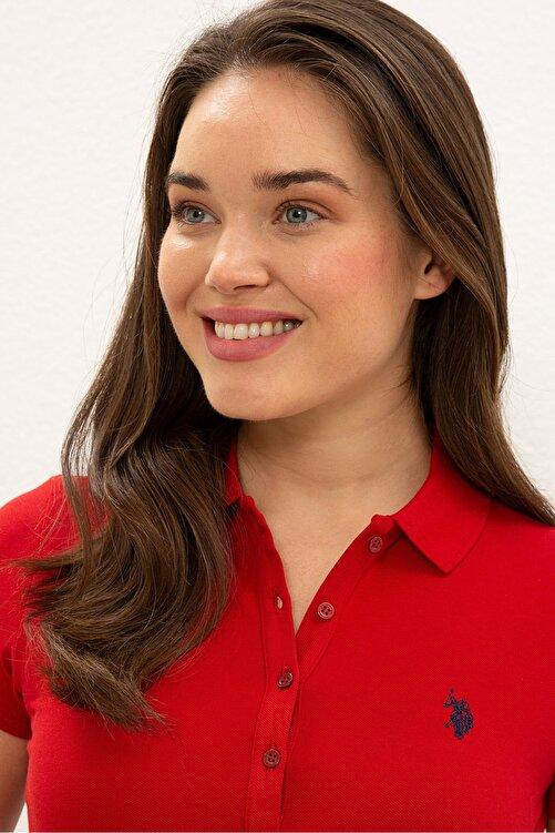 U.S. Polo Assn. Kırmızı Kadın T-Shirt 2