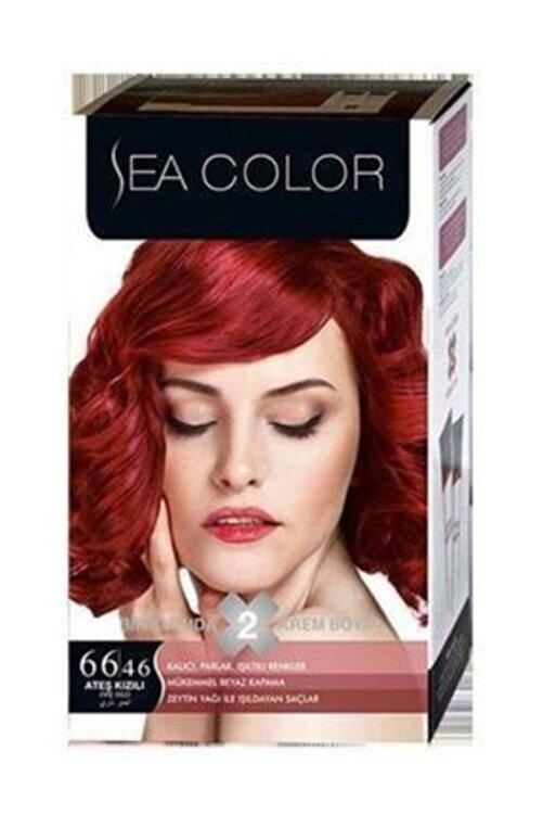 Sea Color 2'li Krem Saç Boyası 66/46 Ateş Kızılı 1