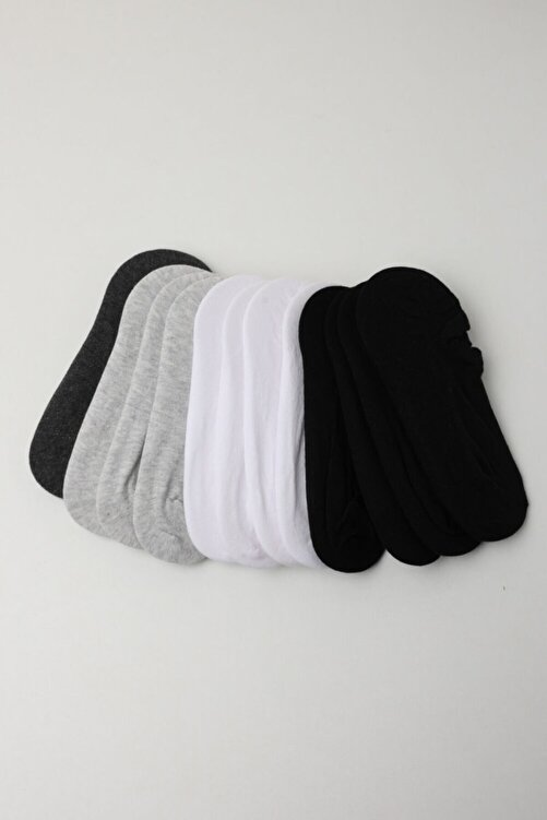 Katia&Bony Kadın Spor Çorap - Siyah /beyaz / Gri 12'li Paket 2