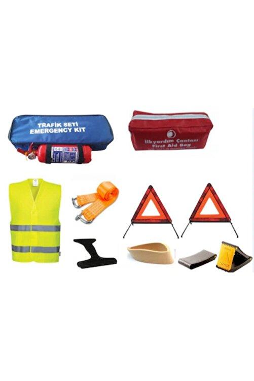 SAFİR Trafik Seti Çantalı Lüx Set Yangın Söndürücülü İkaz Yelekli 2