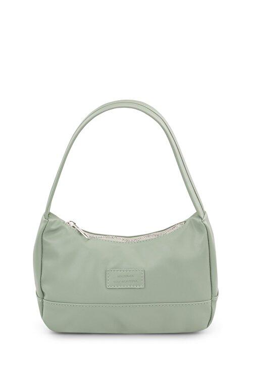 Housebags Kadın Su Yeşili Baguette Çanta 197 1