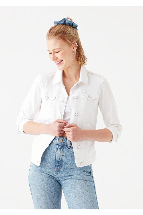Mavi Daisy Beyaz Gold Jean Ceket 1113629204 2