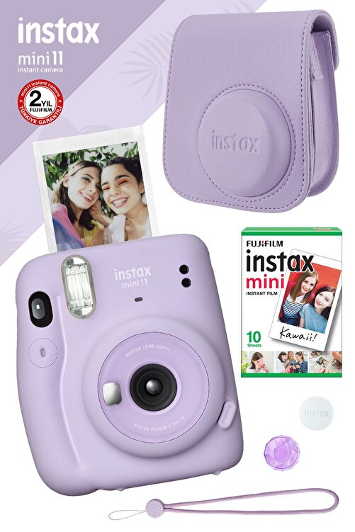Fujifilm Instax Mini 11 Lila Fotoğraf Makinesi Ve Hediye Seti 3 1