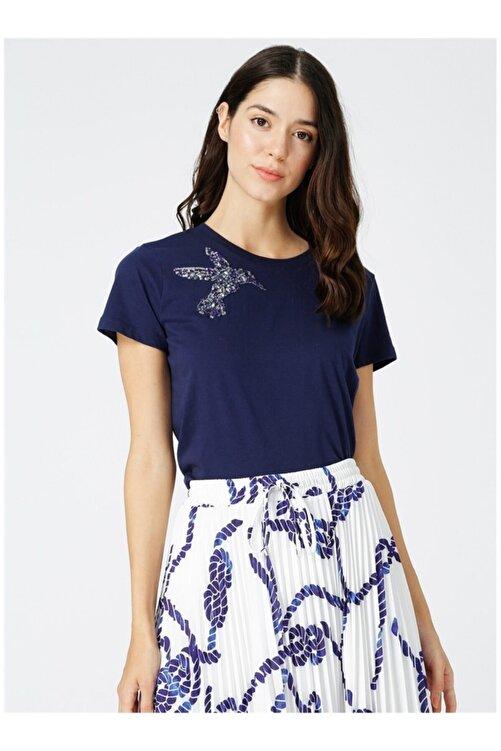 Fabrika Kadın Lacivert İşlemeli Tişört 1