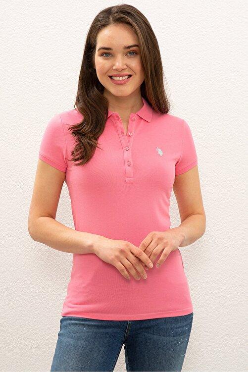 U.S. Polo Assn. Pembe Kadın T-Shirt 1