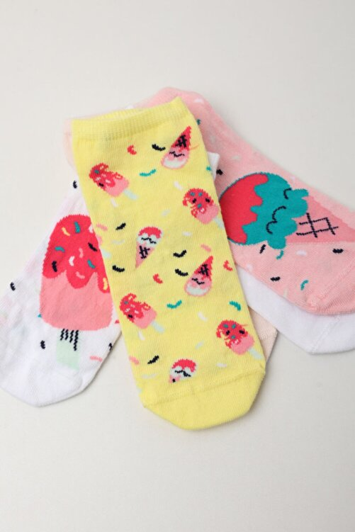 Katia&Bony Kadın Pembe 5'li Paket Step Çorap 2