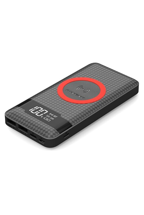 Pineng Kablosuz Taşınabilir Şarj Cihazı 10.000 Mah Siyah 1