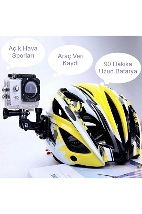 Nivagatore Aksiyon Kamerası Kask Motorsiklet Bisikleti Deniz Ultra Sporlar Hd 1080p 2