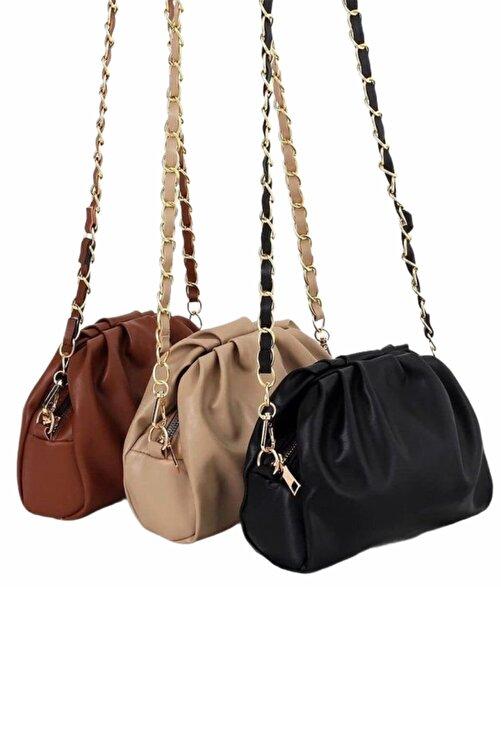 Moom Bag Kadın Siyah Fermuarlı Askılı Çanta 2