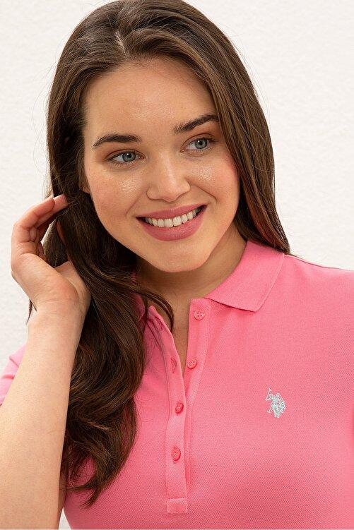 U.S. Polo Assn. Pembe Kadın T-Shirt 2