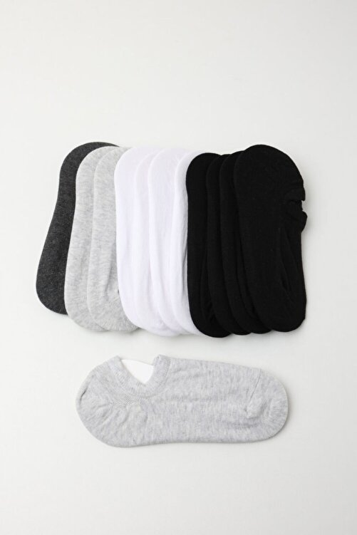 Katia&Bony Kadın Spor Çorap - Siyah /beyaz / Gri 12'li Paket 1