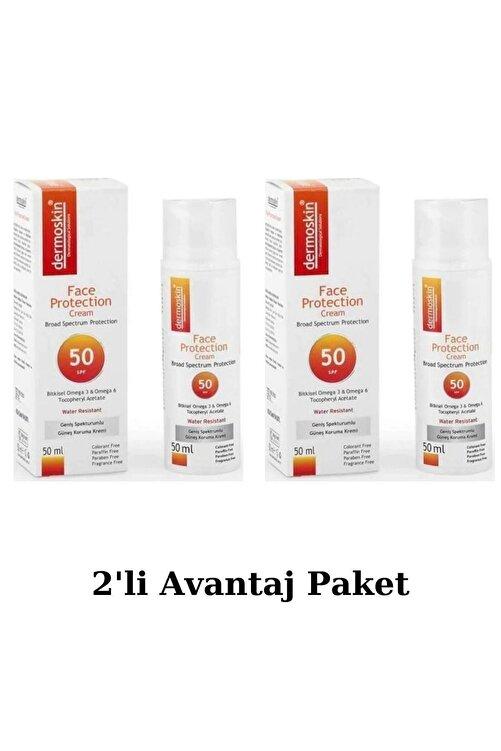 Dermoskin Face Protection Spf 50 Plus 50 Ml Güneş Kremi 2'li Avantaj Paket 1