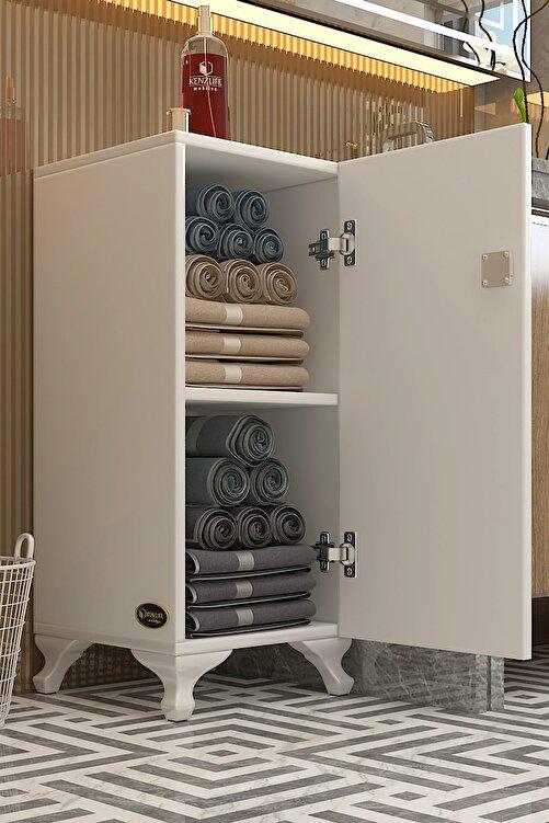 Kenzlife Kilitli dolap rana29 byz banyo dolabı ayaklı mutfak ofis kiler kitaplık evrak ÖZEL EBAT 68*29*29 cm. 1