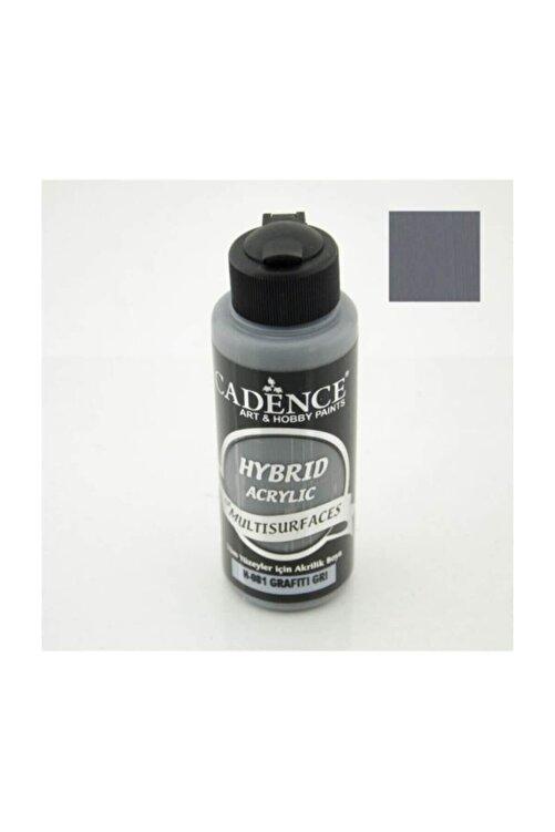 Cadence Hybrid Multisurface Akrilik Boya 120 ml. H-081 Grafiti Gri 1
