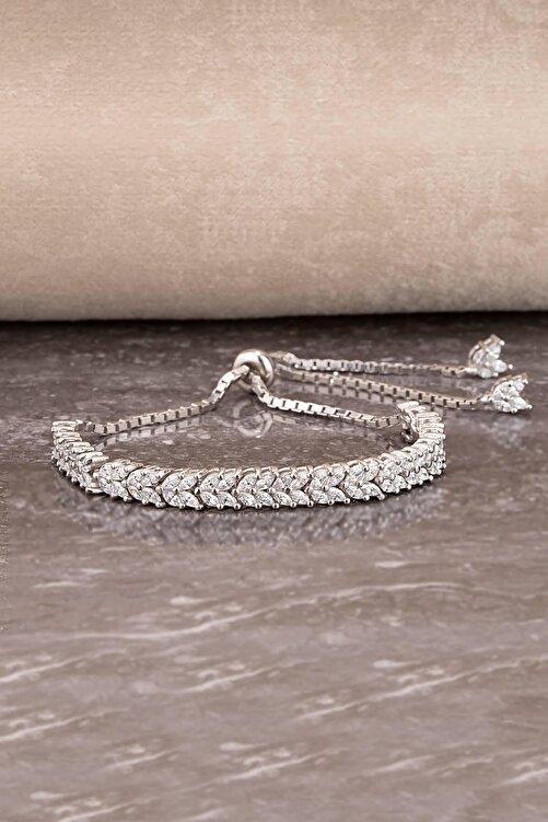 Else Silver Mekik Taşlı Asansörlü Gümüş Bileklik 1